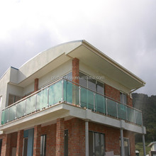 Exterior floor mounted cheap deck railings /Safety tempered glass 316s.s post balcony balustrades