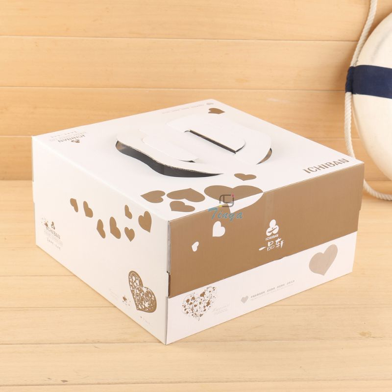 Paper cardboard birthday boxes for cakes