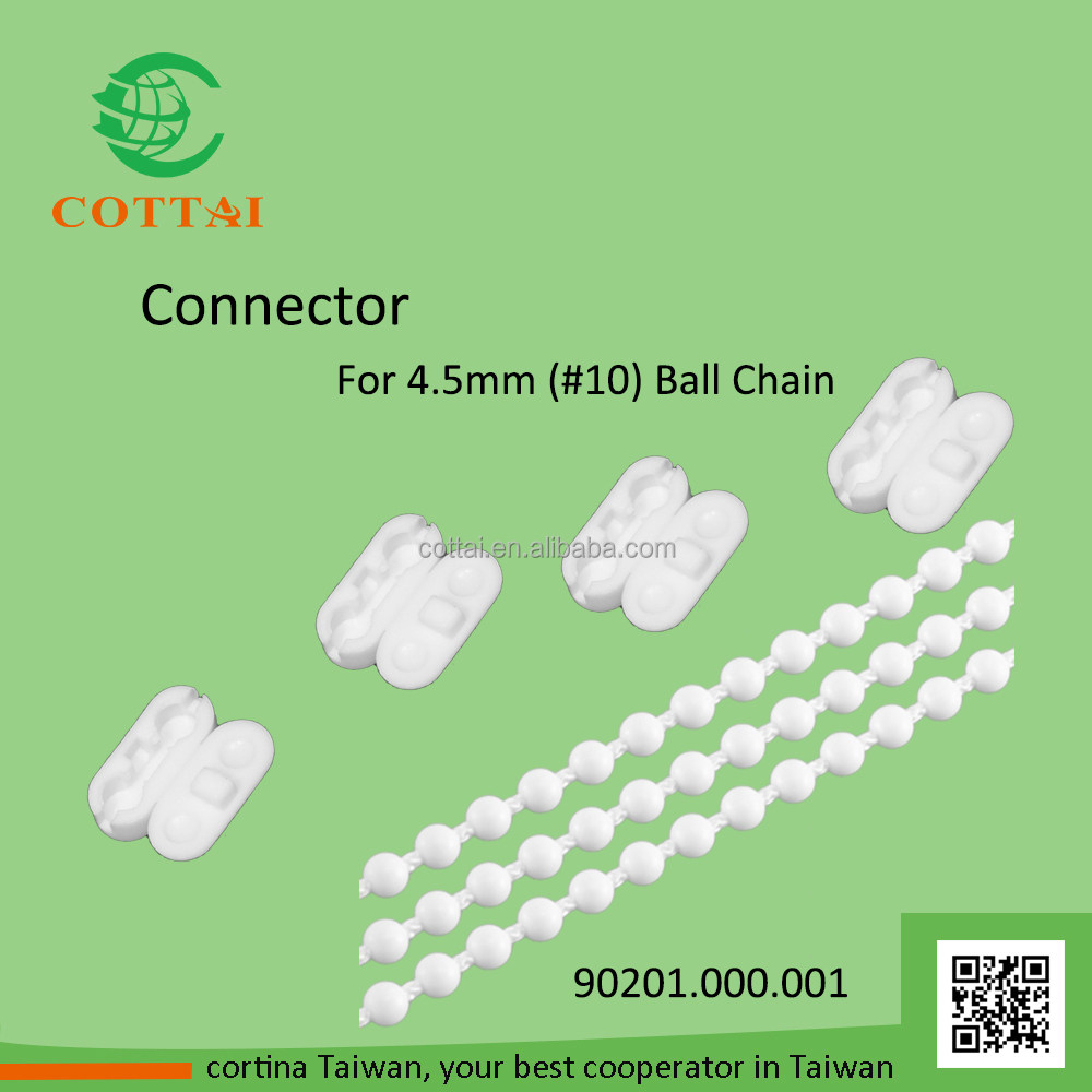 COTTAI wholesale vertical blind #10 plastic ball chain connector