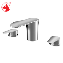 Chrome plated solid brass three way faucet
