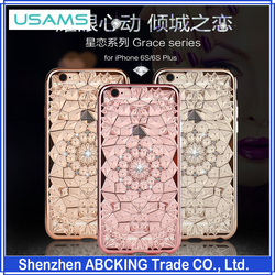 Newest High Quality USAMS Grace Series TPU Back Cover Case For Apple iphone 6 /6S/6 Plus/6S Plus