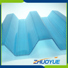 Greenhouse plastic corrugated polycarbonate sheet panels