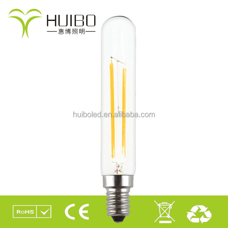Led bulb house Longevity energy saving led filament bulb tubular T20/T22 2w e12 2200k warm yellow