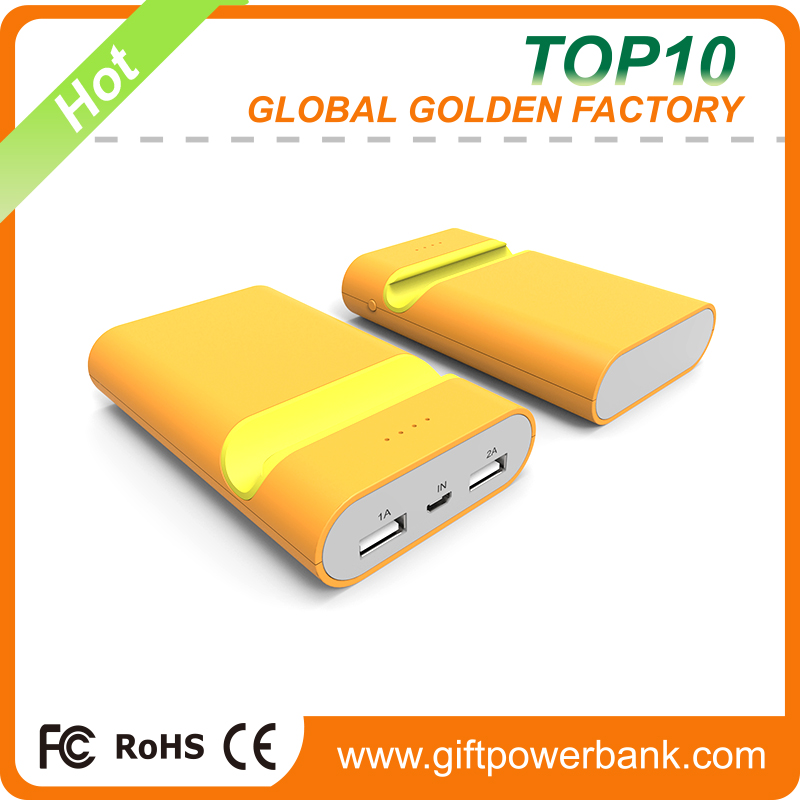 10400mAh Dual USB Mobile Phone Bracket Portable Power Bank