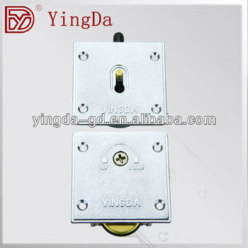 YD-321 High quality Zinc alloy plate with Brass wheels sliding door wardrobe fitting caster wheel for sliding door