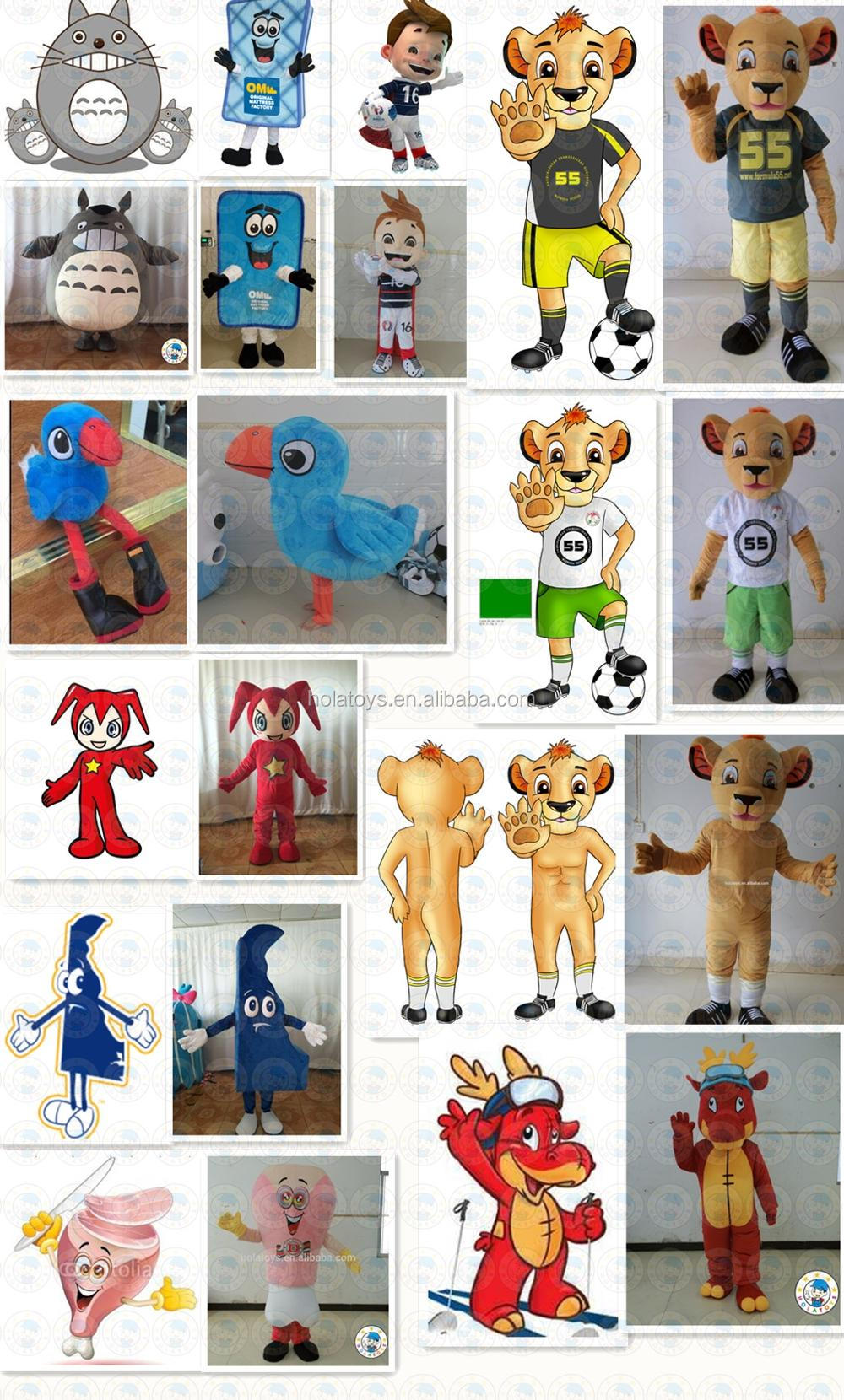 Hola cute mascots costumes for adult/funny mascot costumes for cosplay