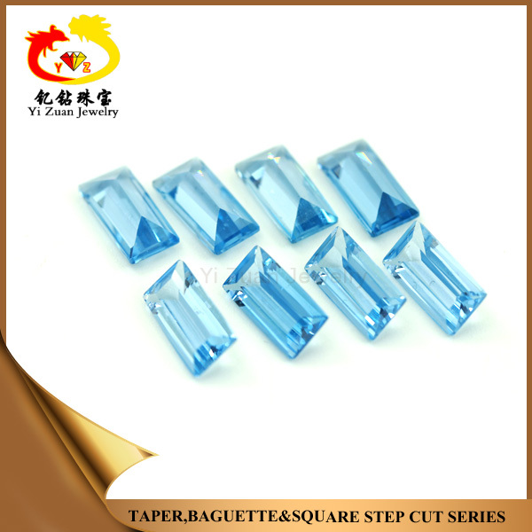 High Quality Wholesale Genuine Natural Rough 106# Blue Spinal Rectangle Stepcut Stone in Loose Gemstone for Jewelry.