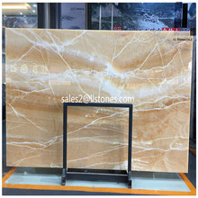 stone sink Good quality honey onyx slab chinese supplier yellow onyx translucent marble 2017
