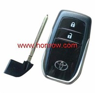 Toyota 2 button remote key blank, key shell