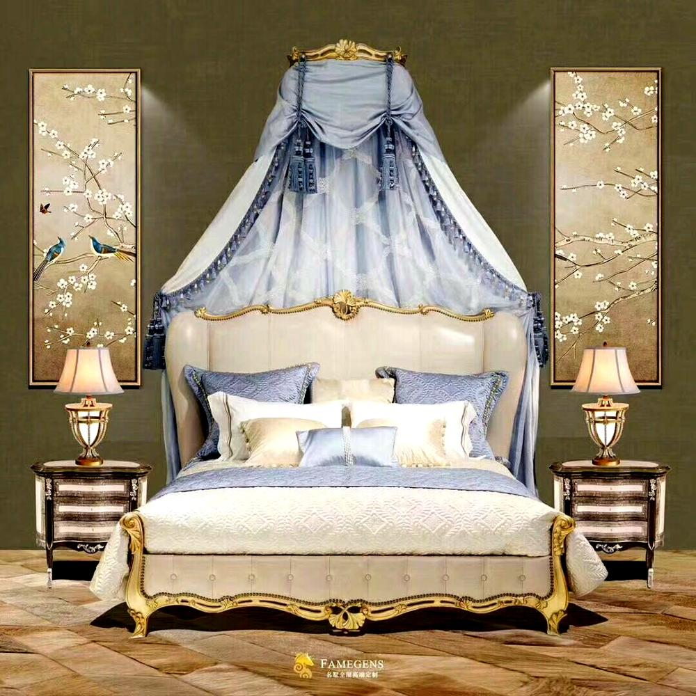 French style solid wood beautiful bedroom furniture, royal hand ...