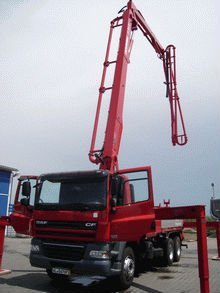 DAF 6x4 CF 85.360 with Schwing S34X concrete pump
