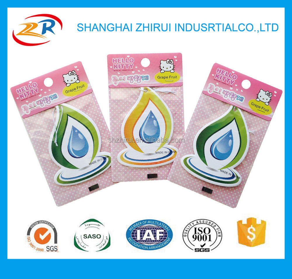 Water drop shaped Promotion Aromatic Car Air Freshener