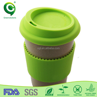 Plastic Travel Coffee Drink Cup with Lid and Straw