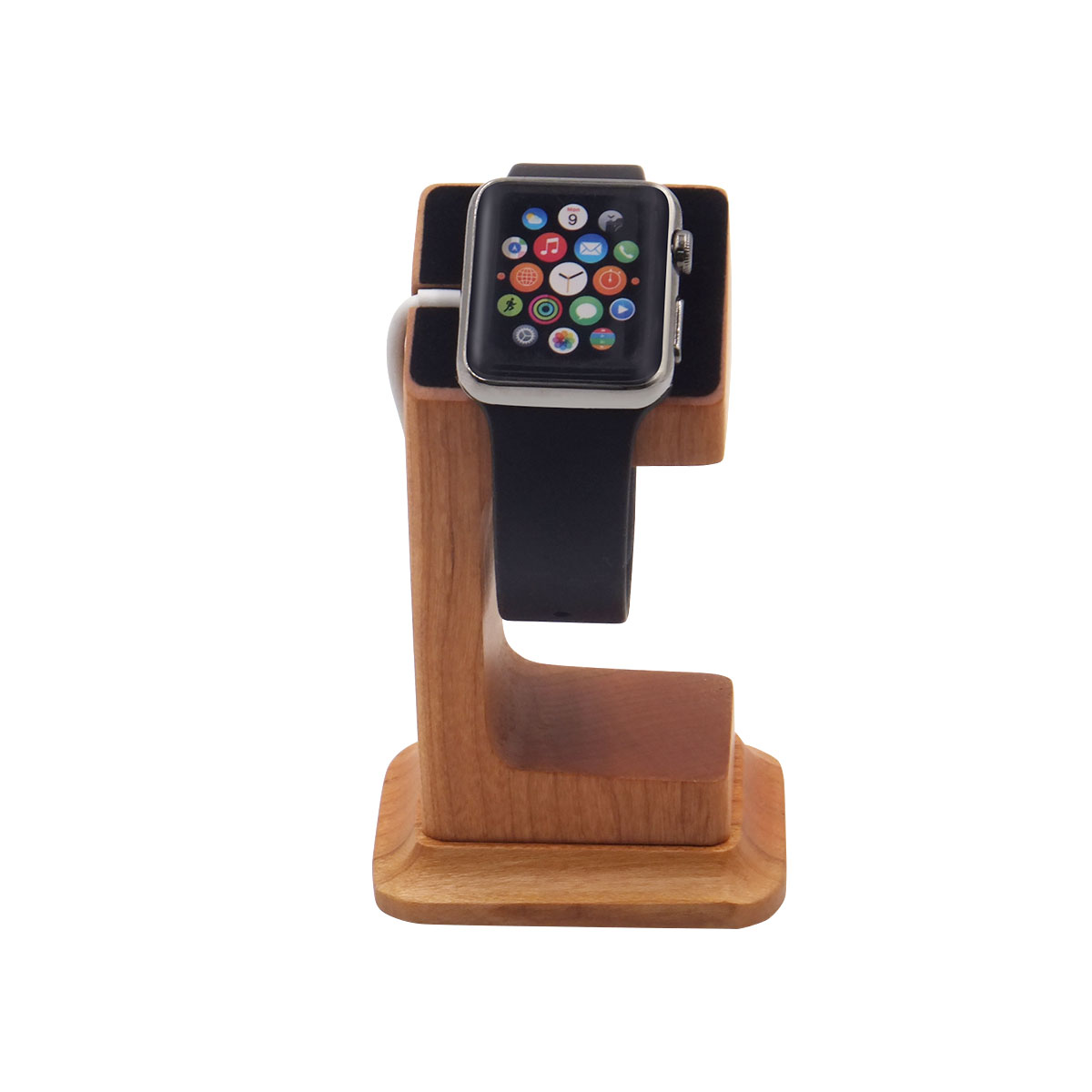 2018 wooden design wrist watch display stand for branded watch store