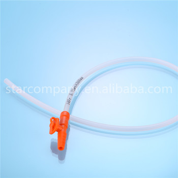 suction catheter Non-toxic PVC colour coded connector
