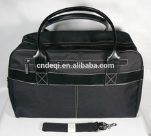Black SOFT Duffle carry on overnight shoulder bag