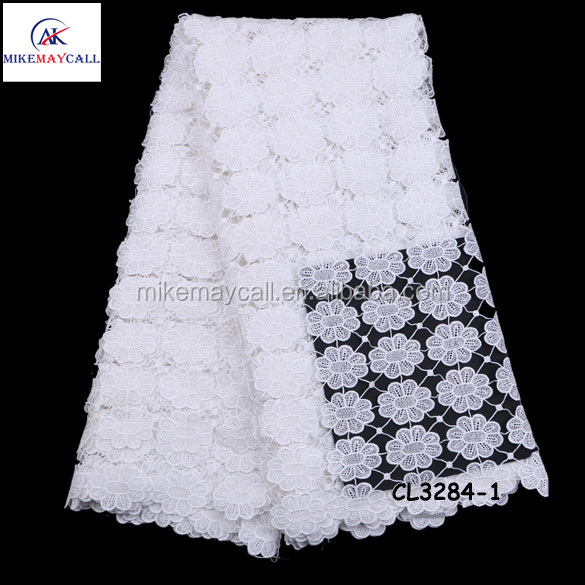 Stones cord lace wholesale nigeria style Guipure fabric for