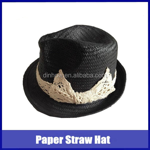 Womens black color wholesale hat panama
