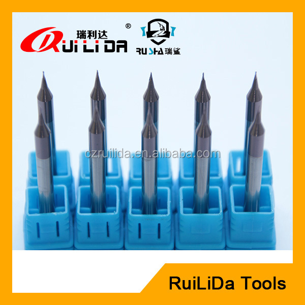 micro diameter solid tungsten carbide end mill cutter for procseeing jewelry