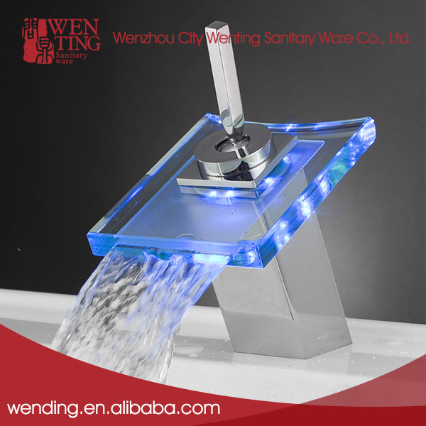 Wenzhou Gold Supplier single handle economic waterfall bathroom faucet