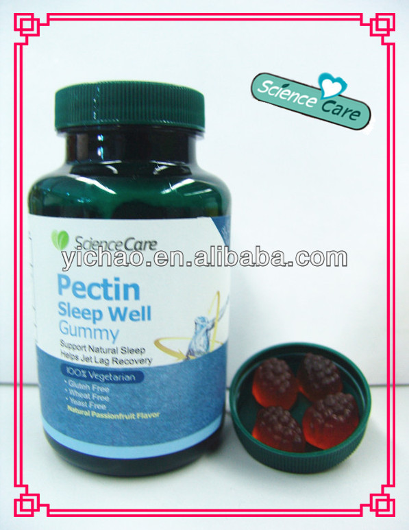 180g Halal Pectin Melatonin gummy Sleep Well Gummy