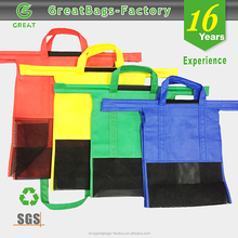 wholesale design your own reusable foldable shopping trolley bag
