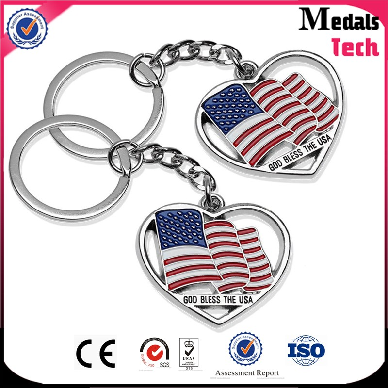China Wholesale custom die cast soft enamel metal new york key chain
