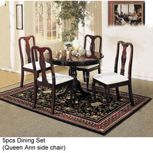 30152-6005 5PCS WOODEN DINING SET (Queen Ann Chair & Table)