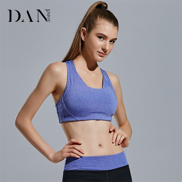 Factory Wholesale Young Girls Running Fitness Shockproof Vest Tops No Rims Seamless Plain Sports Bra