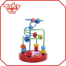 Fashionable designed wooden bead maze toy