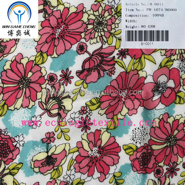 60*60 printed bamboo fabric wholesale