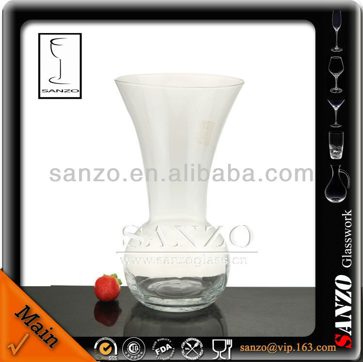 handpainted lead free clear glass vase