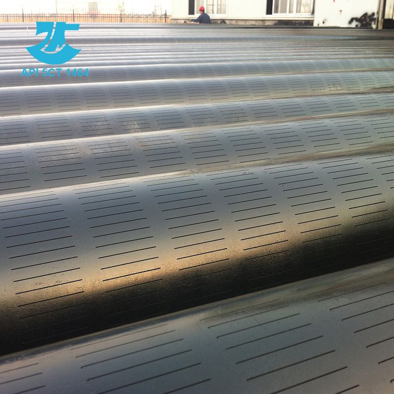 round single slotted line casing pipe for oil well drilling