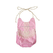 2017 hot selling newborn boutique Fringing String Romper
