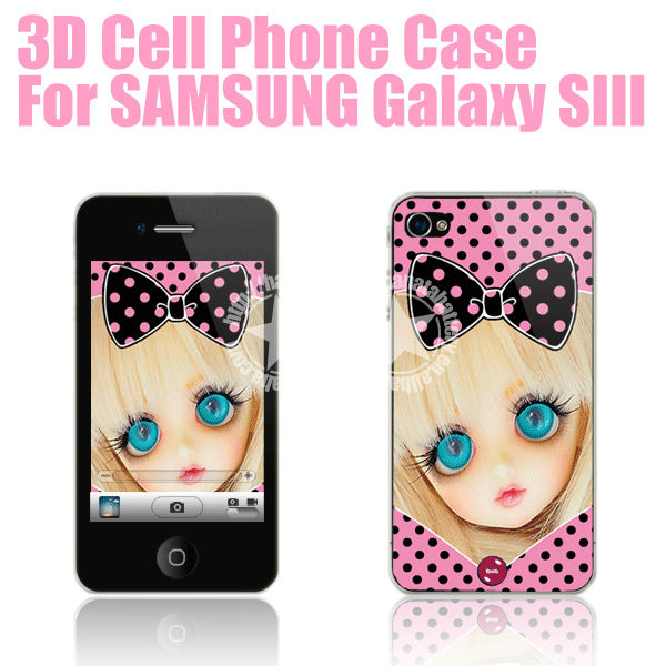 [HANATA] 3D Cute Barbie Mobile Phone Protective Case for Samsung Galaxy S3 SIII i9300 Made in China