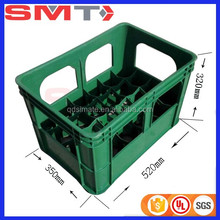 Hot sale heavy duty 24 bottles plastic beer bin for beer wine crate