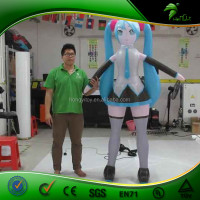 Popular Cute Japanese H Cartoon / Giant Inflatable Japan Adult Cartoon