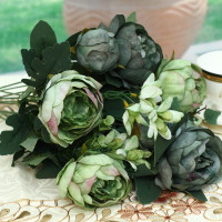 12 Heads Large Size Decorative Peony Artificial Flower
