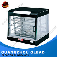 2016 Hot Selling Stainless Steel glass food warmer display showcase