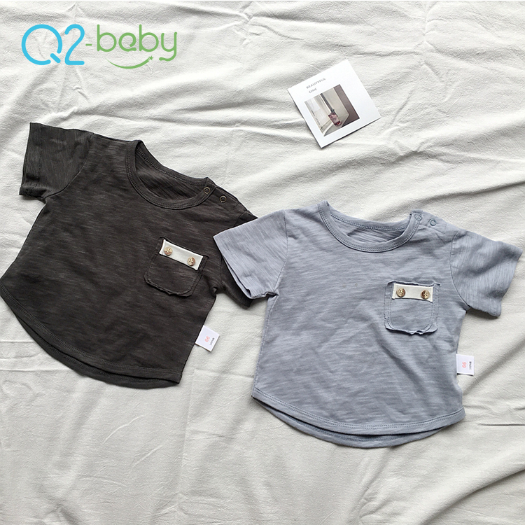 Q2-baby Summer Boy Baby Clothes Short Sleeve T Shirts For Boys