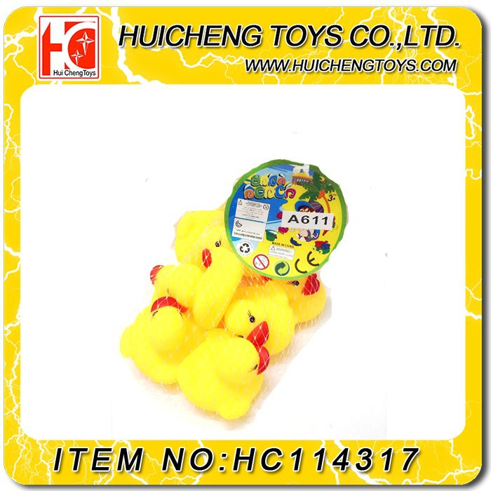 Eco-friendly material plstic ABS soft rubber baby bath animal duck toys for kids with EN71 eco friendly material plstic ABS
