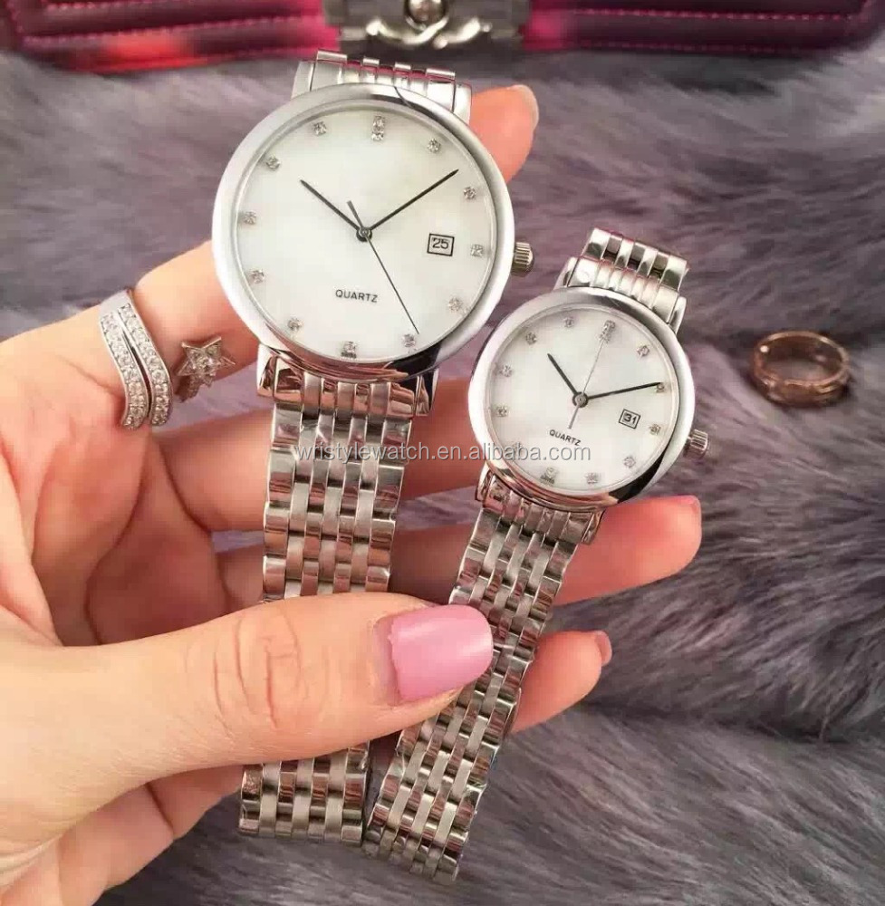 all stainless steel quartz lover watch