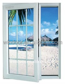 Cheap price PVC windows in philippines market, hot sale auti-uv pvc sliding/casement windows price factory