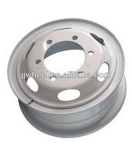 white commercial truck wheel