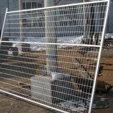Welded portable temporary dog fence panel for swimming pools