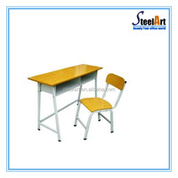Cheap folding study table and chair children usage furniture