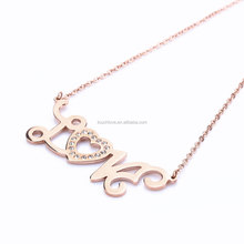 Wholesale Designer Brand Stainless Steel Jewelry Name Design Letter Necklace