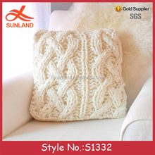 S1332 Hot sale wholesale chunky cable knit throw pillow cover cases