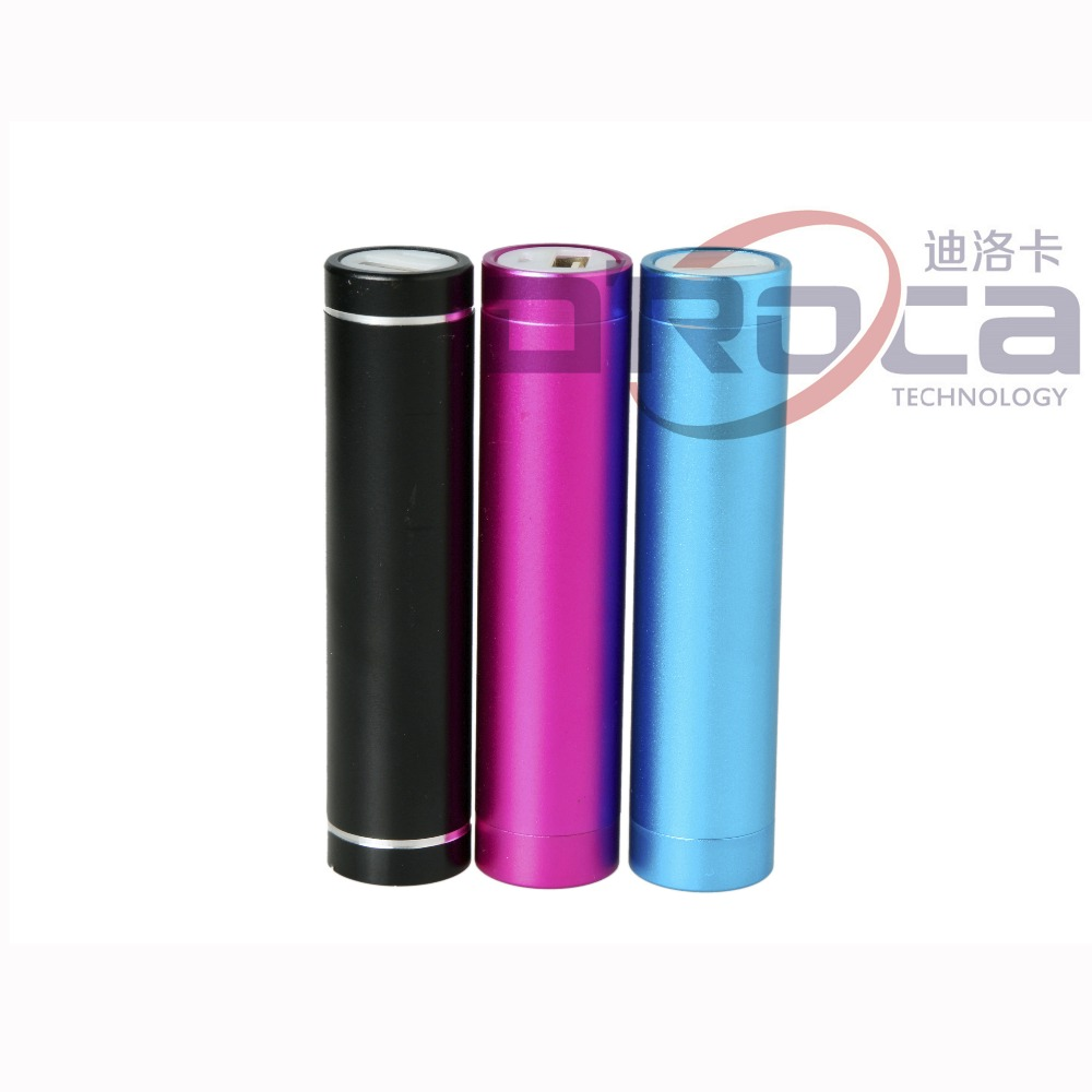 metal lipstick round slim <strong>mobile</strong> powerbank, mini portable powerbank
