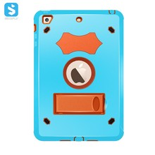 Hybrid PC TPU Combo Shockproof Kickstand Case for iPad Mini 2 3